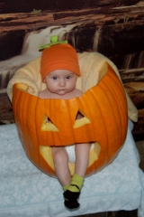 Put her in a pumpkin shell... and smile!