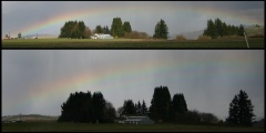 Spotted a rainbow west of Salem on Sat.