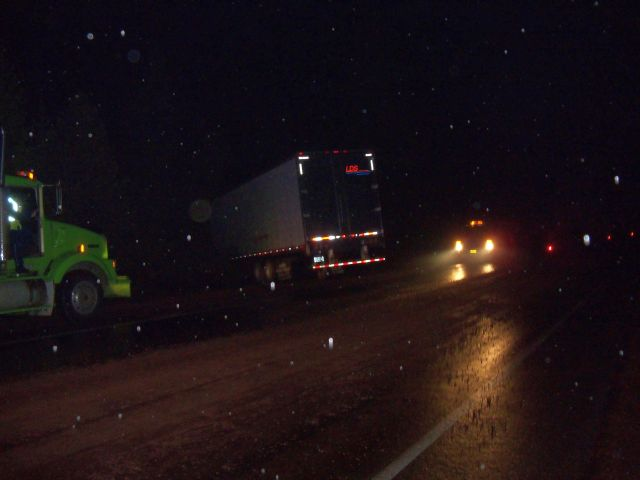 No one hurt in pair of semi crashes on icy Hwy 58
