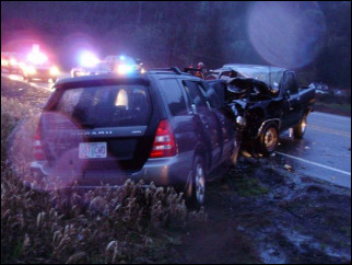 Two killed in head-on crash east of Newport