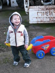 22 Month Old Paul Playing Outside