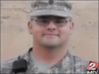 Oregon National Guard Specialist Troy Sartain