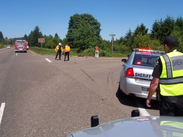 Crash on Monday, May 20, 2013 on Highway 99 near Adair Village