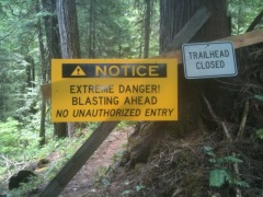 NUT's: trail closed