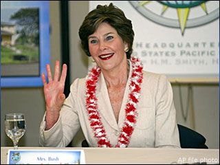 White House defends Laura Bush's decision not to reveal skin cancer tumor removal