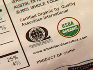 Organic produce...from China??