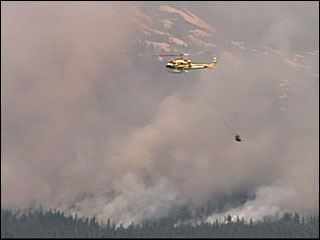 Helicopter on Adams fire