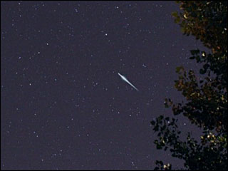 Meteor shower rains shooting stars across summer skies