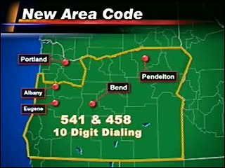 New 458 area code means 10-digit dialing for all local calls in Oregon