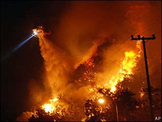 Sepulveda Pass fire in LA in 2008