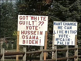'Vote Hussein Osama' sign violates state law