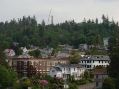 Stairs being replaced at Astoria Column