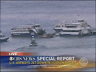 SPECIAL REPORT: CBS covers plane down in Hudson River