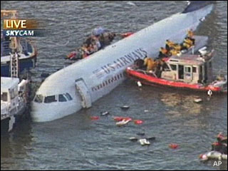 Photos from plane crash in Hudson River