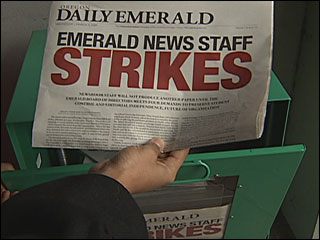 UO newspaper staff stops work, issues demands