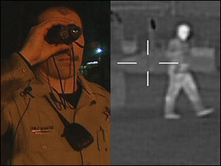 Thermal imaging device lets sheriff's deputies 'see' in the dark