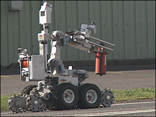 Bomb bot helps police inspect suspicious object