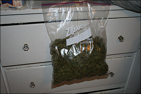 ounce of weed in bag. a ag of high quality weed