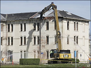 Part of 'Cuckoo's Nest' hospital torn down
