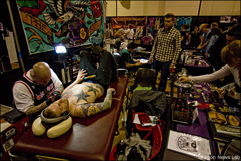 """I had to turn down over one hundred tattoo artists this year."""