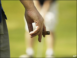 Teed off: Smoking bans have golfers riled