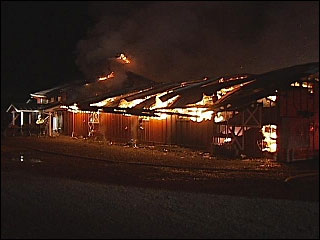Fire destroys Red Barn at King Estate Winery