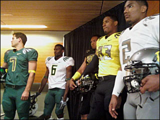 Photos of the new Ducks football uniforms