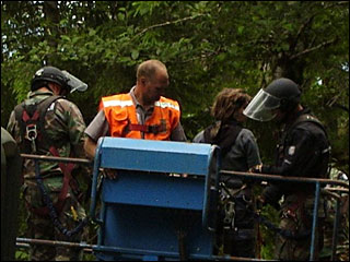 Police arrest 27 protesters blocking logging