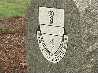 Monument dedicated to military in Springfield