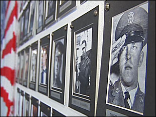 Every day is Veterans Day on portrait wall at Creswell, Ore., cafe