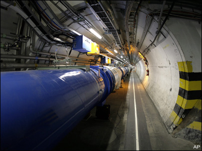 Geneva atom smasher sets record for beam energy