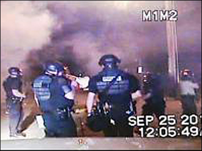 Footage acquired by KVAL of Friday night's police action in Eugene's West University neighborhood.
