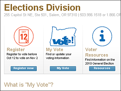 Oregon citizens now can register to vote online.