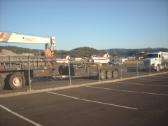 few of helicopters at roseburg airport