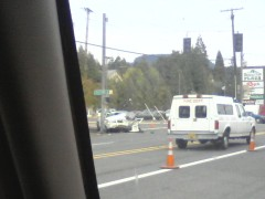 Accident in Oakridge
