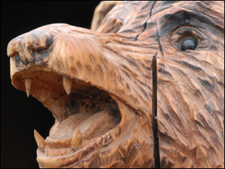 'Sometimes I get tired from carving bears'