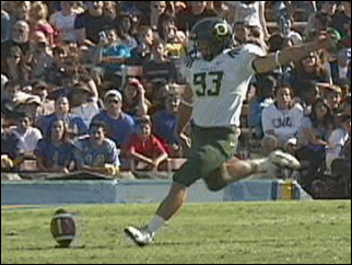 Mother says UO kicker's condition improving after 'horrific' attack