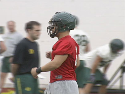 Masoli first on field for Duck spring football practice