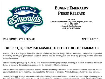 Minor league baseball team scams local media