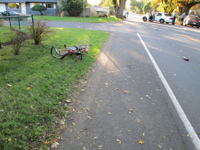 Fatal motorized bicycle crash