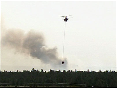 Fire near Sisters in 2010