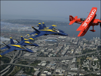 Photos: Blue Angels roar over Seattle