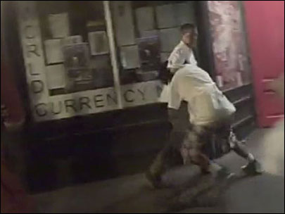 Downtown brawl caught on camera, not by police