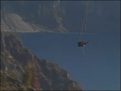 Car debris airlifted out of Crater Lake