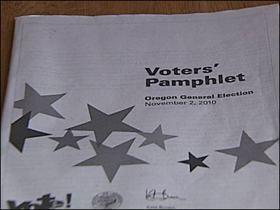 Some Oregon Voters&#39; Pamphlets missing 60 pages