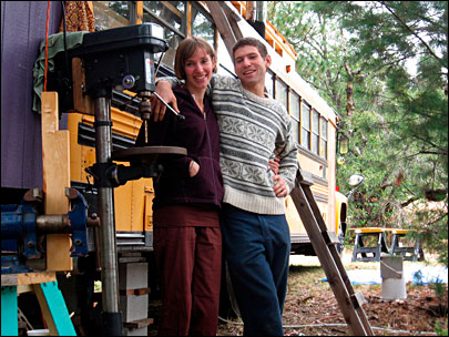 Oregon couple converts bus to sustainable living