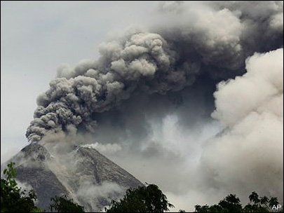 Powerful volcano erupts again in Indonesia