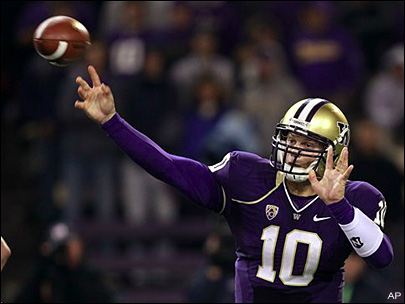 Hurt Locker: UW QB won't play against Ducks