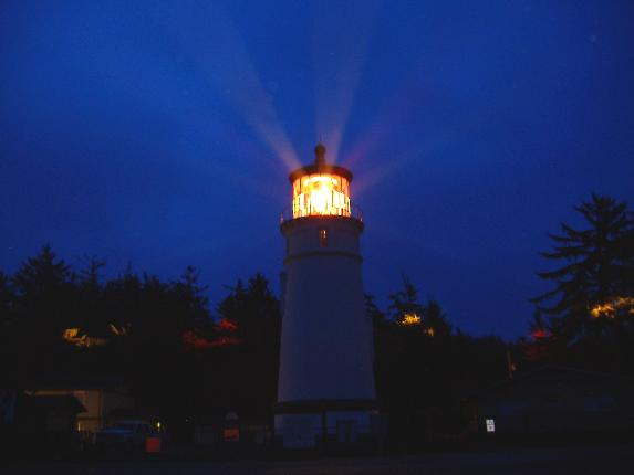 Umpqua Lighthouse at dusk