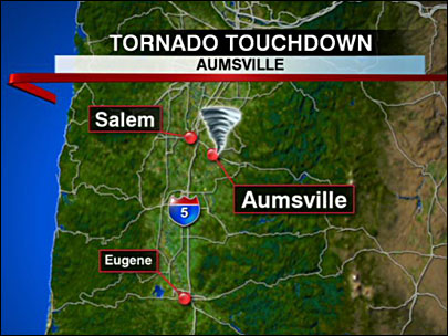 Oregon tornado: 'It just blew the whole roof off'